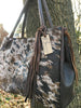 Acid Washed Cowhide Tote