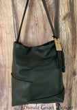 Black Leather Hobo Purse