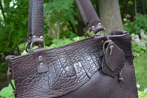 Bison Leather Tote/Briefcase