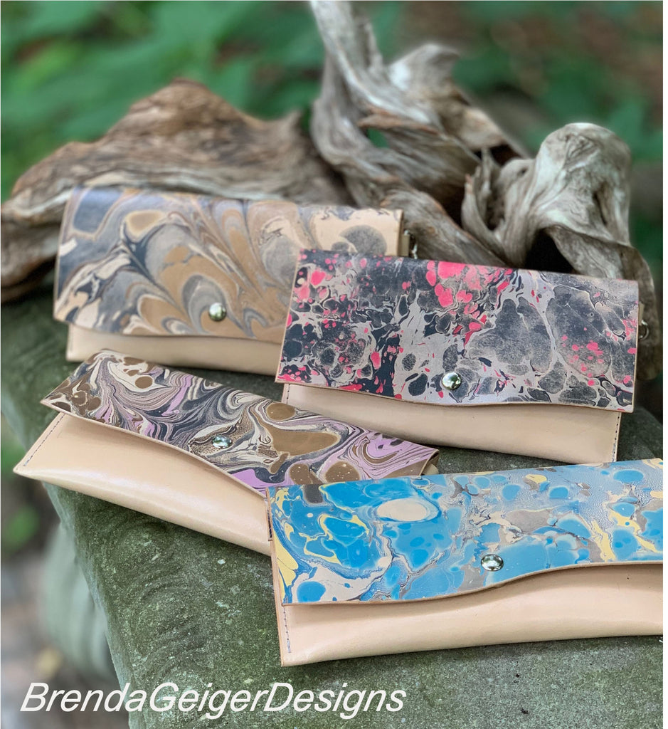 Marbled Leather Wallets