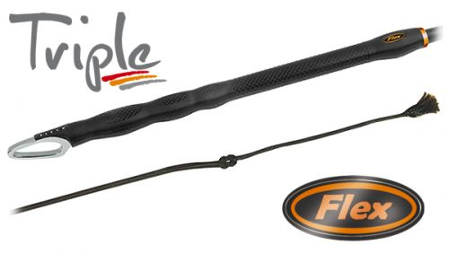 Fleck Dressage Triple Flex 120cm Whip - 03022120