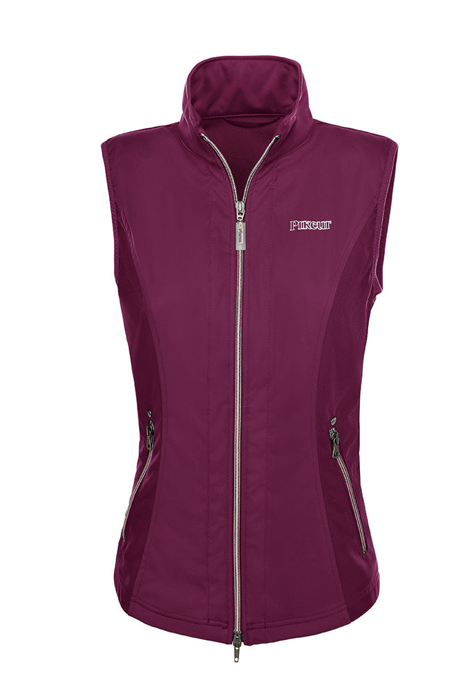 Pikeur Ladies Lana Softshell Gilet - Grapevine - UK 8 only - Divine Equestrian