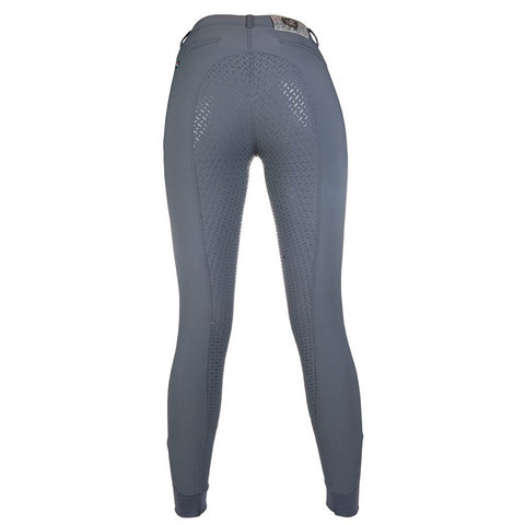 HKM SS19 Limoni Liz Full Seat Silicon Ladies Breeches - Graphite