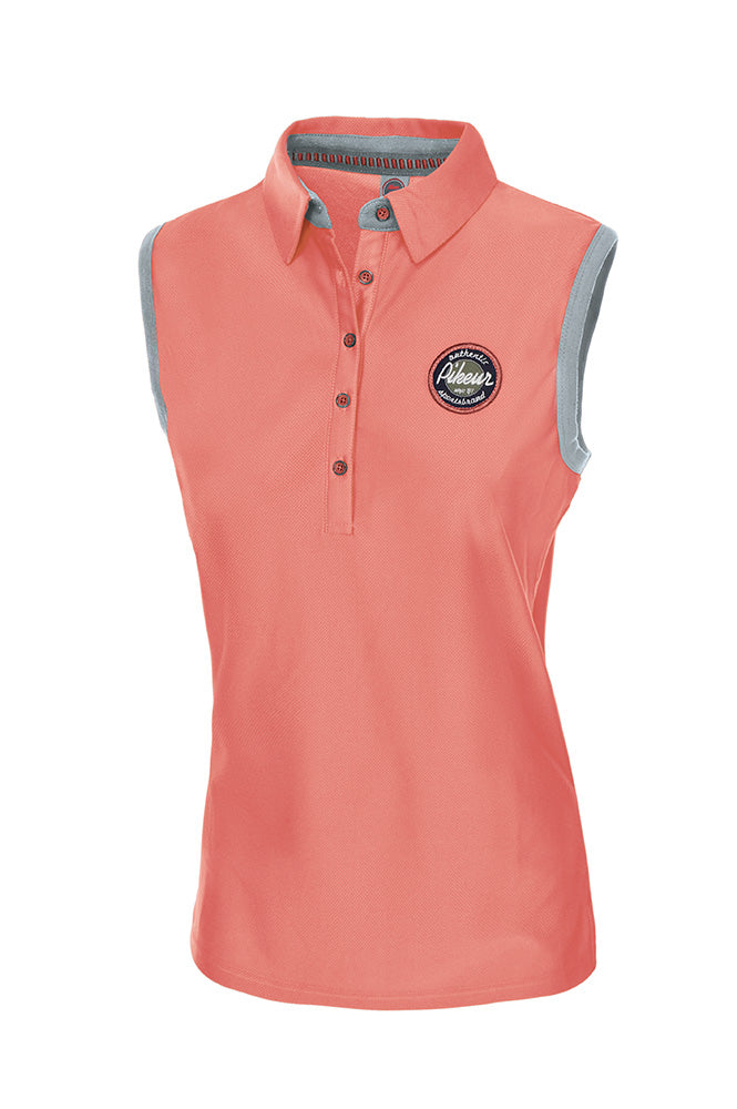 Pikeur Ladies Jarla Polo Shirt sleeveless - Peach - Divine Equestrian