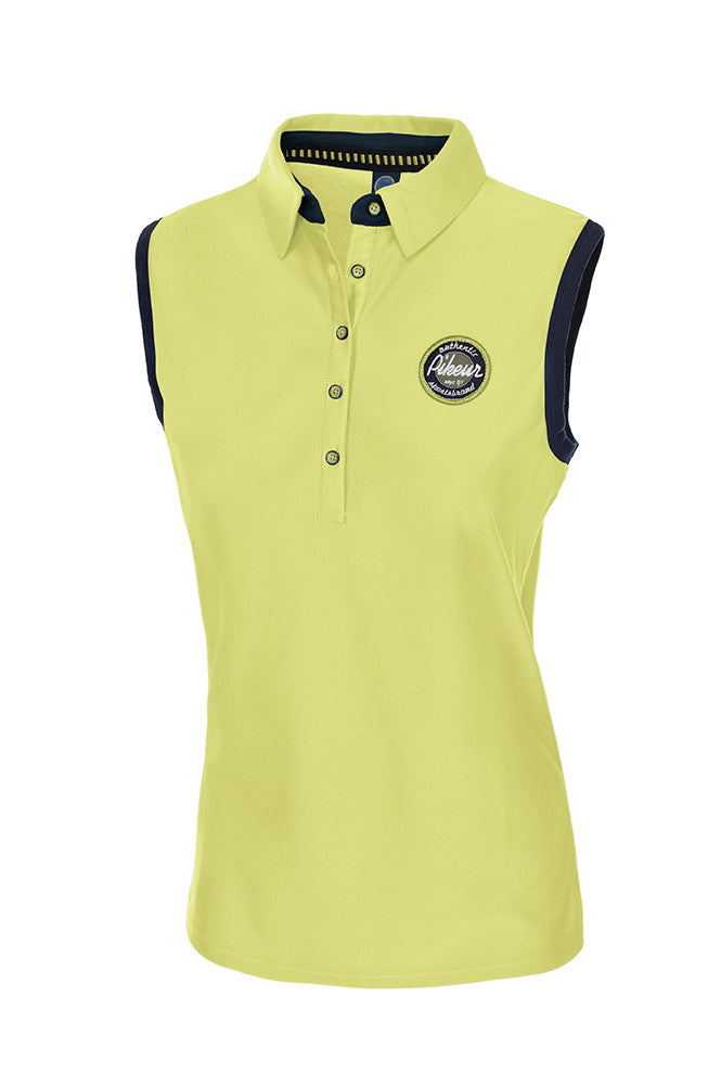 Pikeur Ladies Jarla Polo Shirt sleeveless - Lime - Divine Equestrian
