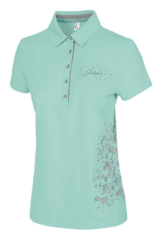 Pikeur Charlene Ladies Polo Shirt - Mint - UK14 only - Divine Equestrian