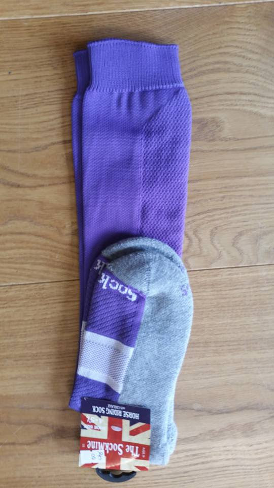 Gatcombe Long Sock Lilac with Grey Foot - Divine Equestrian