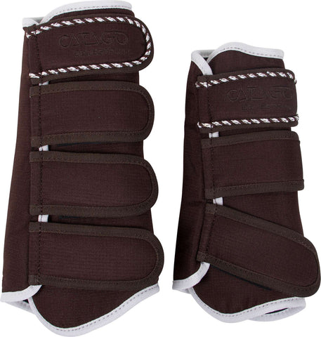 CATAGO Diamond Brushing Boots - Brown / White
