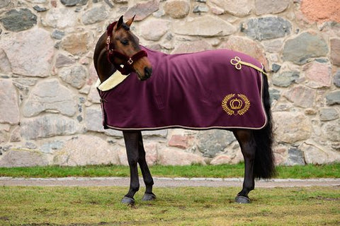 PS Of Sweden SS20 Mongram Fleece Rug - Wine - Divine Equestrian