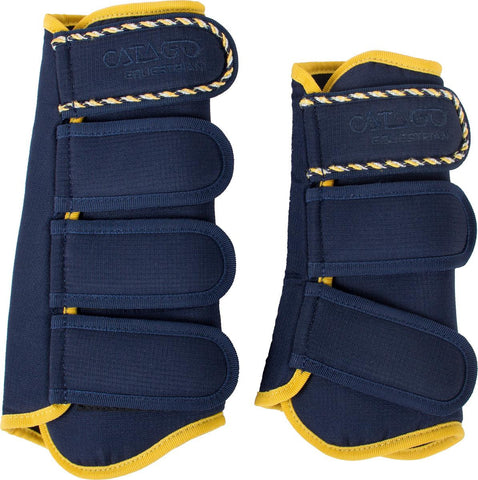 CATAGO Diamond Brushing Boots - Navy / Yellow