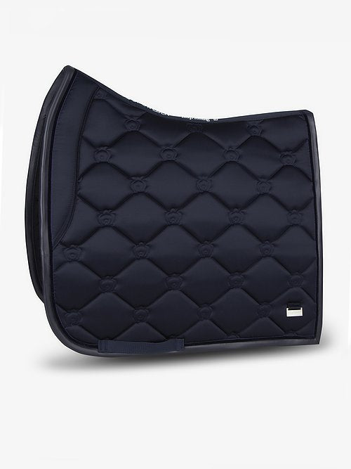PS of Sweden Monogram Dressage Full Pad - Navy Only - Divine Equestrian