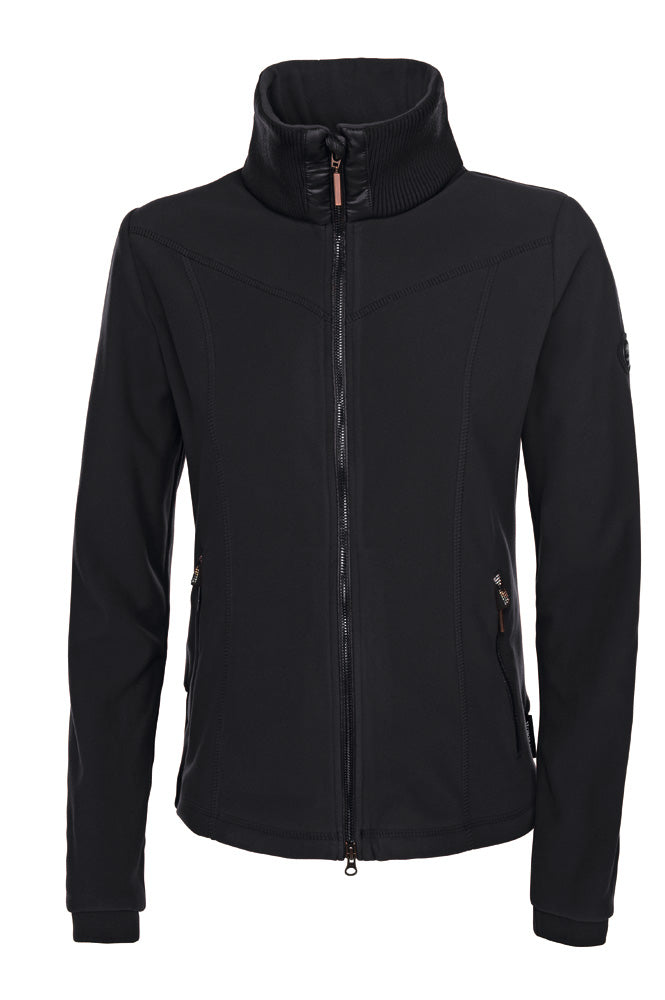 Pikeur Premium Tally elegant Ladies Polartec® Fleece Jacket - Black - Divine Equestrian