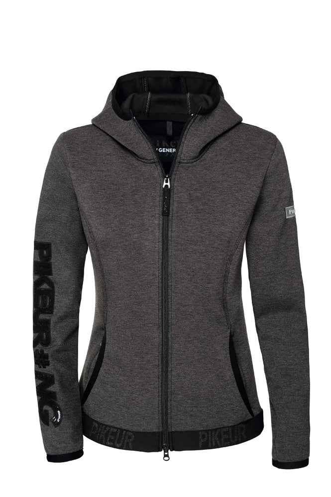 Pikeur New Generation Ginny Technical Fleece with hood - Grey Melange - Divine Equestrian