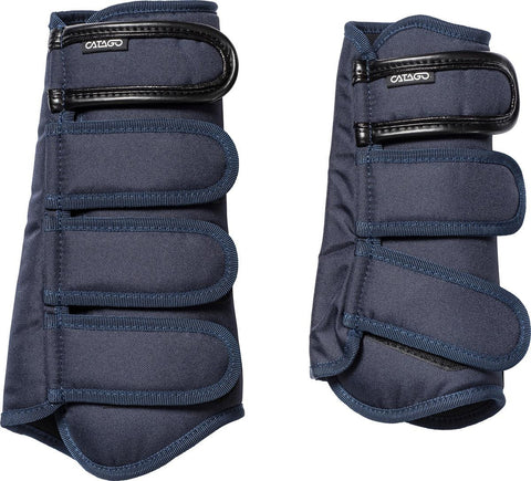 Catago AW16 Tailored Dressage Brushing Boots - Navy - Pony Size Only - Divine Equestrian