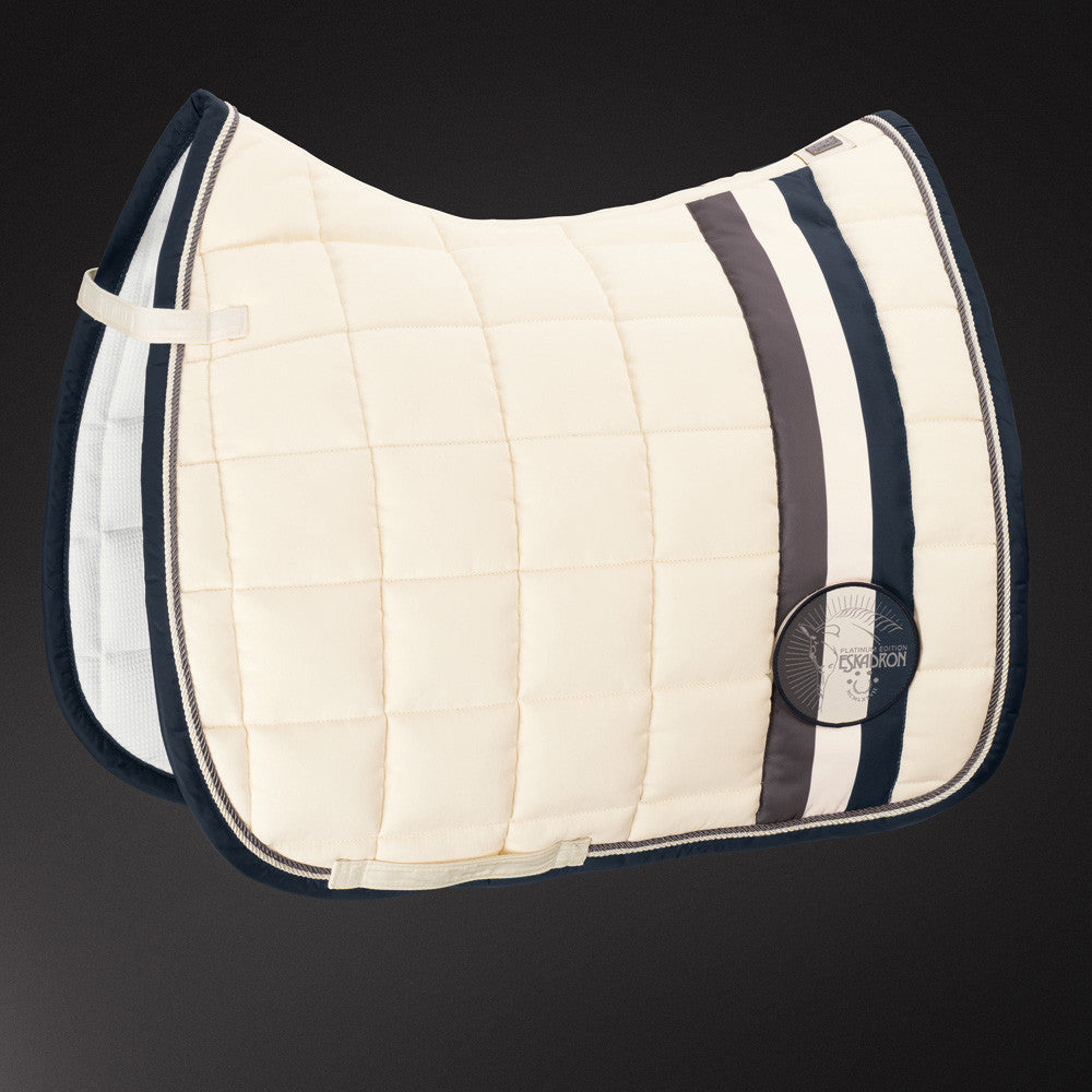 ESKADRON PLATINUM 2017 COTTON BIG SQUARE PAD - CHAMPAGNE - DRESSAGE ONLY