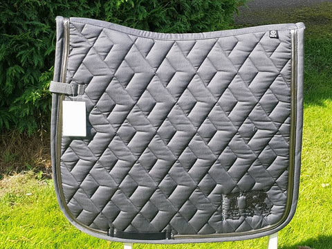 Imperial Riding Party Hardy Saddle Pad - Dressage Only- Grey - Divine Equestrian
