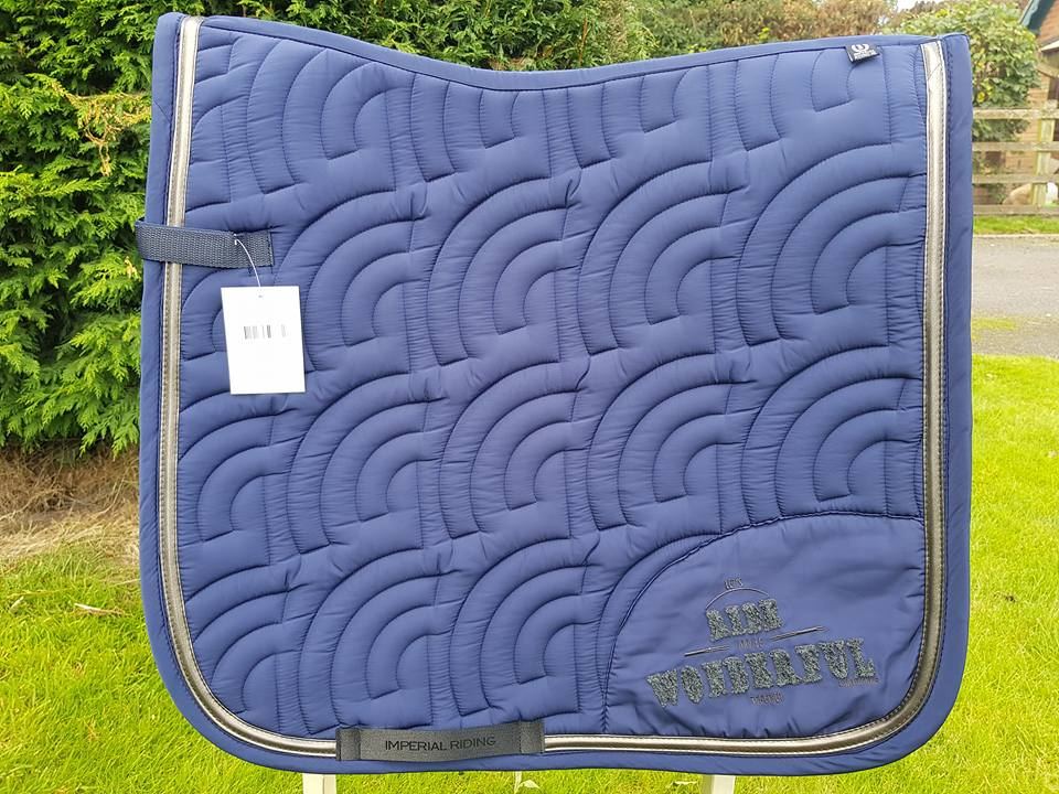 Imperial Riding Unicorn Saddle Pad - Navy - Dressage Only - Divine Equestrian