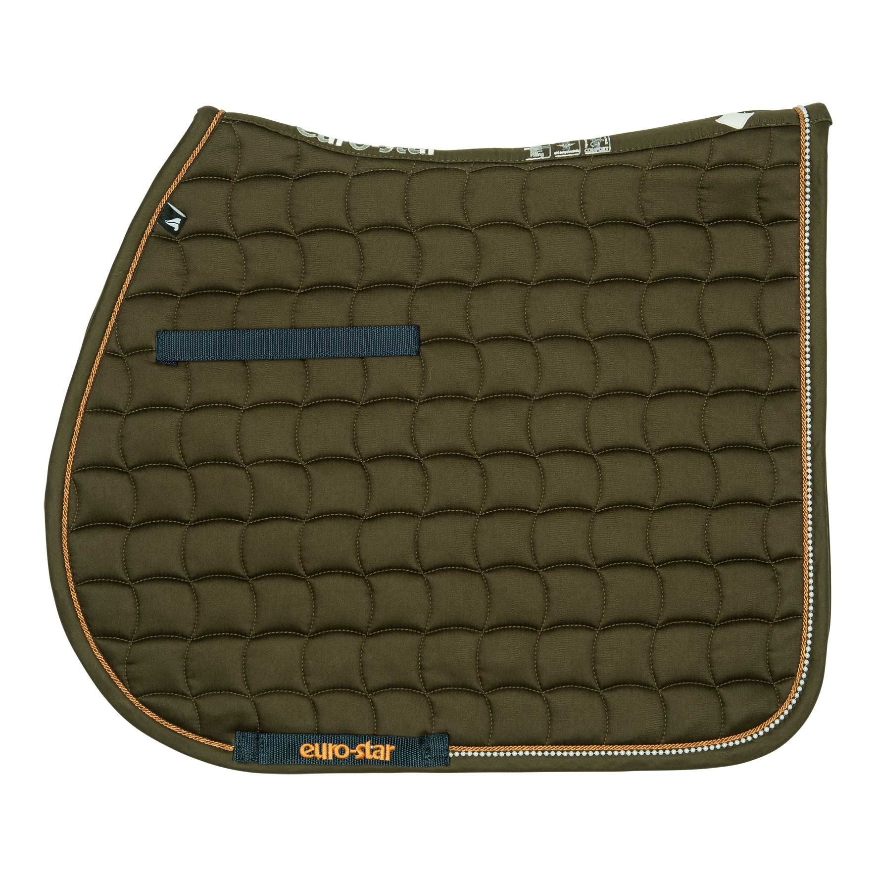 Euro-Star AW16 Nacre Saddle Pad - Olive - Divine Equestrian