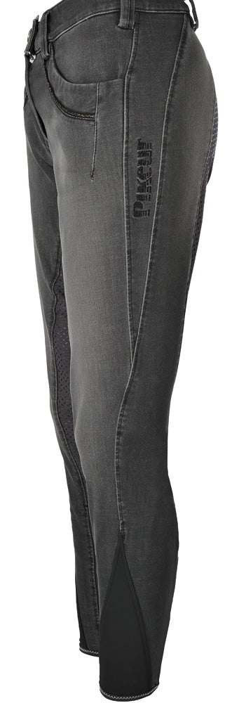 Pikeur AW17 NG Elfa Jeans Full grip seat Breech- Anthracite - Divine Equestrian