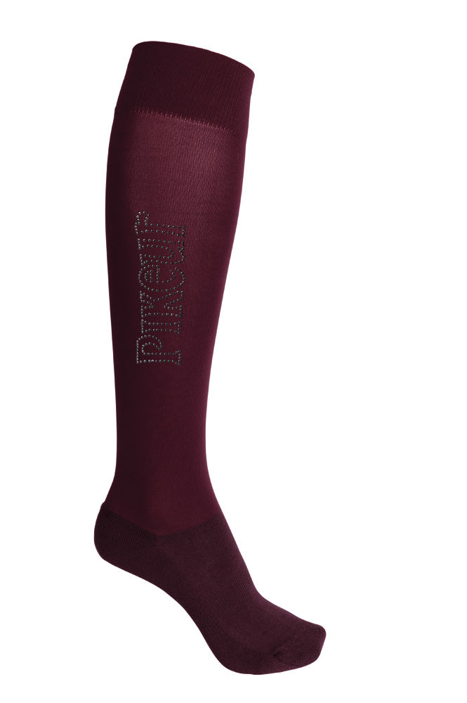 Pikeur Long Stud Socks - Blackberry - Divine Equestrian