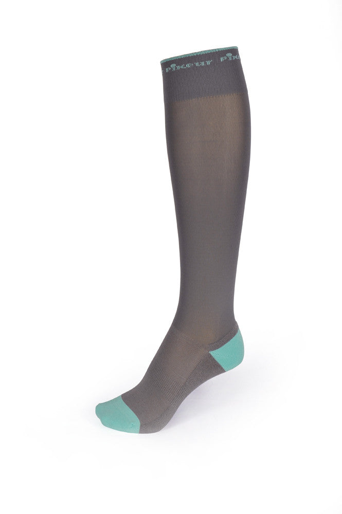 Pikeur SS16 Functional Socks Grey & Mint - Divine Equestrian