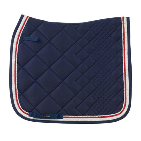 CATAGO Comfort Diamond saddle pad In Navy / red/white - Dressage Full Only - Divine Equestrian