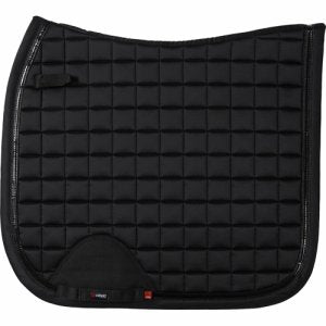 CATAGO FIR-tech Healing Elegant Saddle Pad - BLACK Dressage - Divine Equestrian