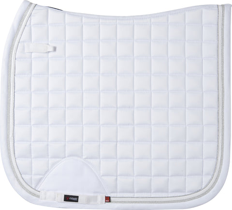 CATAGO FIR-tech Healing Elegant Saddle Pad - White Dressage - Divine Equestrian