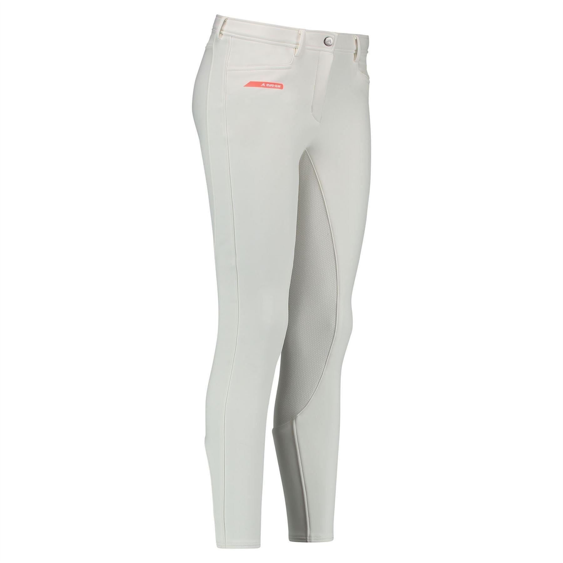 Euro-star Cara Winter Breeches - WHITE - Divine Equestrian