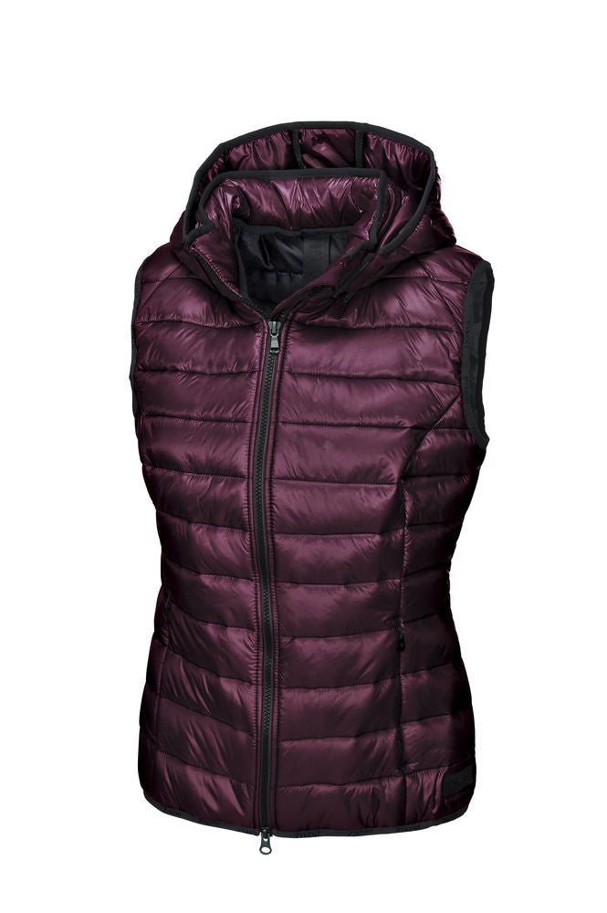 Pikeur AW19 Iva Quilted Waistcoat with Detachable Hood - Bordeaux - Divine Equestrian