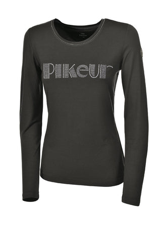 Pikeur Premium Pearl Long Sleeved shirt - Silver grey - Coral - Anthracite