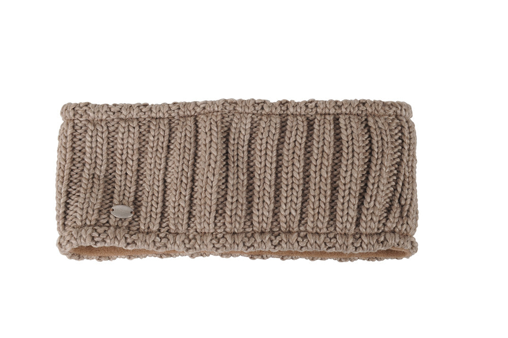 Pikeur wide Headband - Taupe - Divine Equestrian