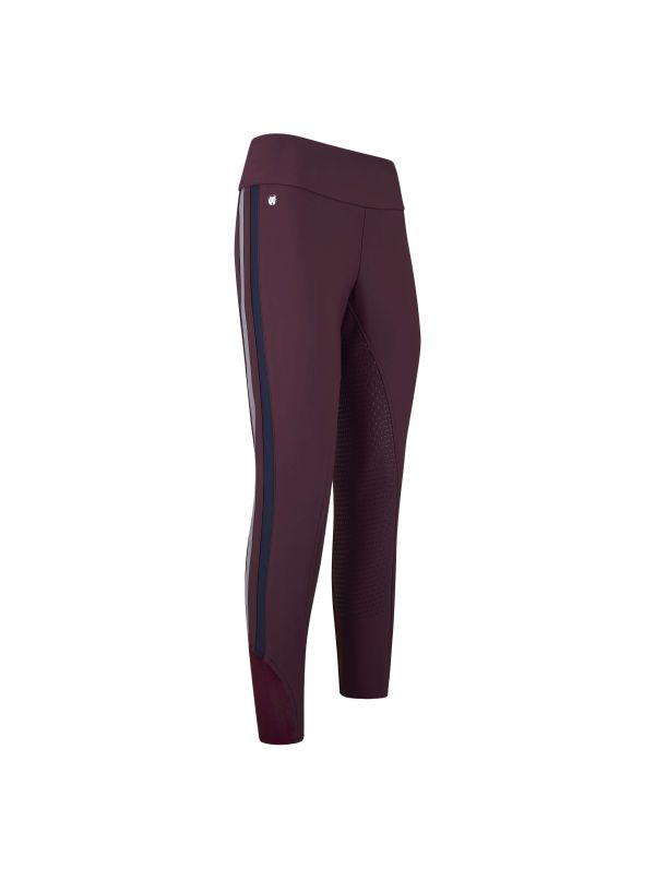 HV Polo AW19 Maddison Riding Tight - Plum - Divine Equestrian
