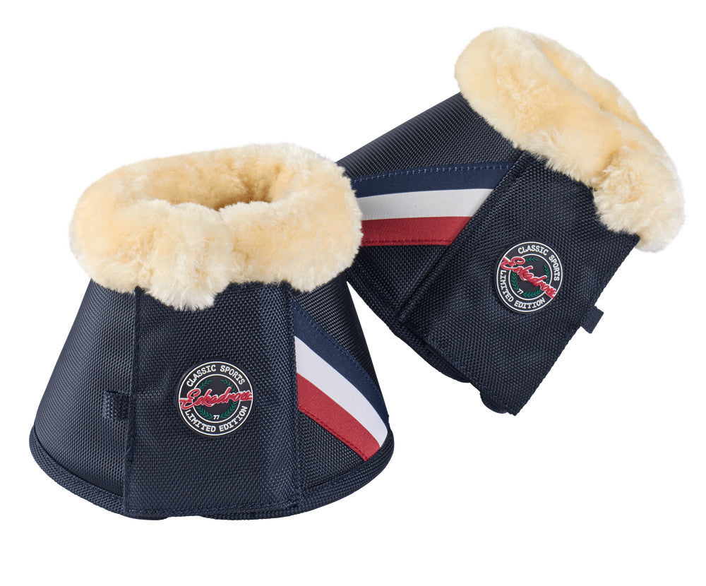 Eskadron Classic SS17 Over Reach Boots - Faux Fur - Navy - Divine Equestrian