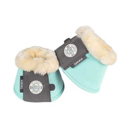 Eskadron Classic SS18 Faux Fur Over Reach Boots - Jade - Divine Equestrian