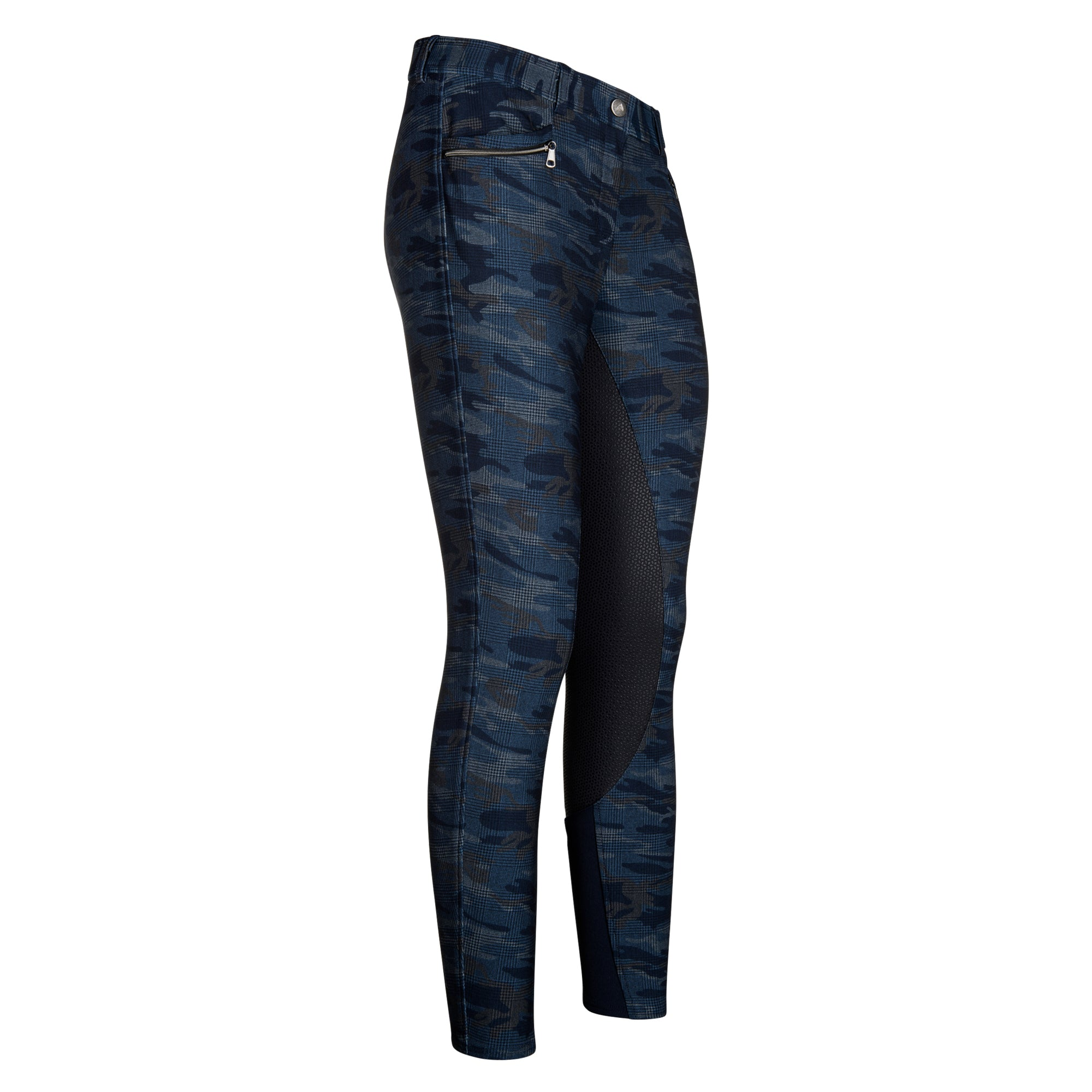 Euro-star AW17 Infinity Full Grip Breeches - Navy Camo