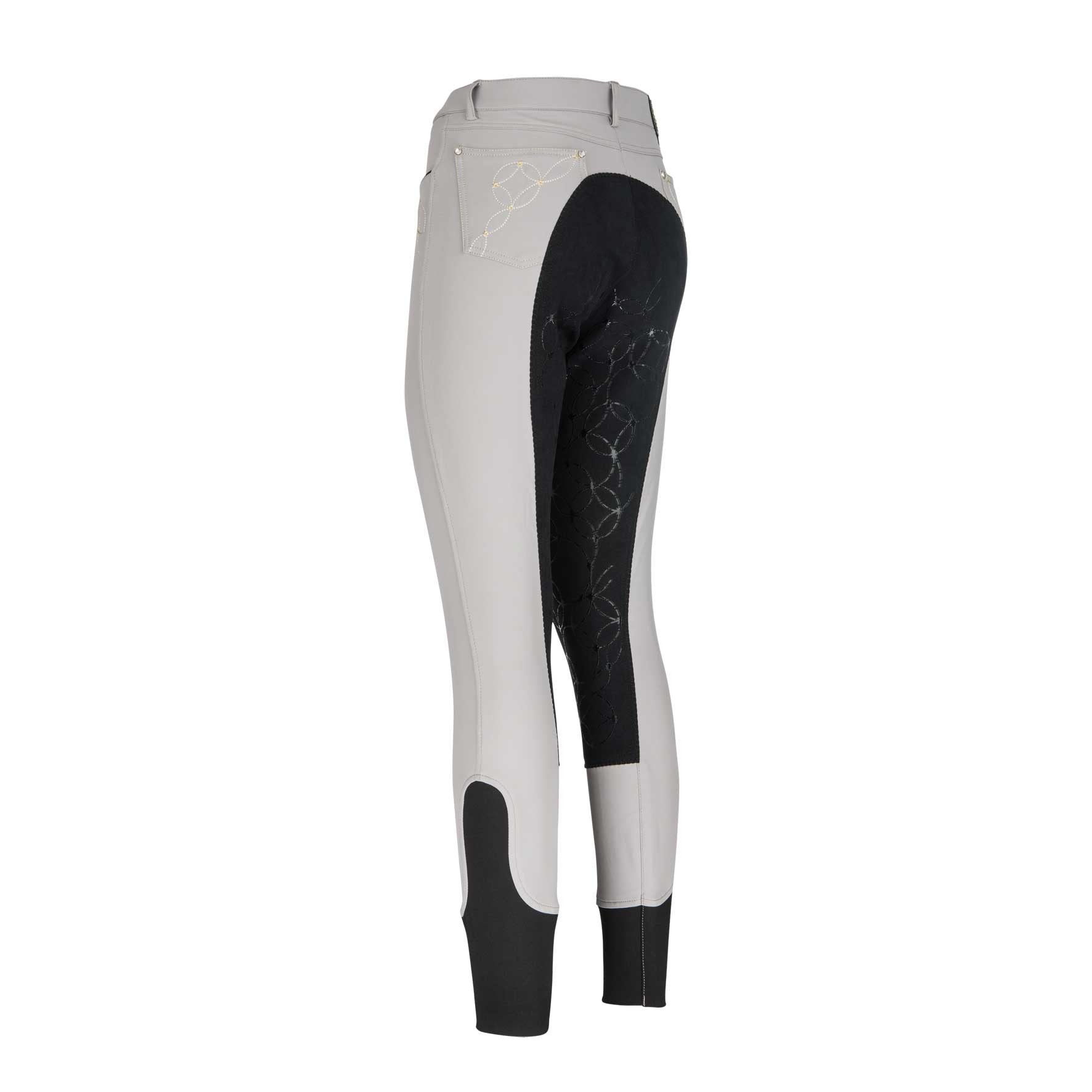 Euro-star Frea Full Seat with Grip Breeches - Middle Grey
