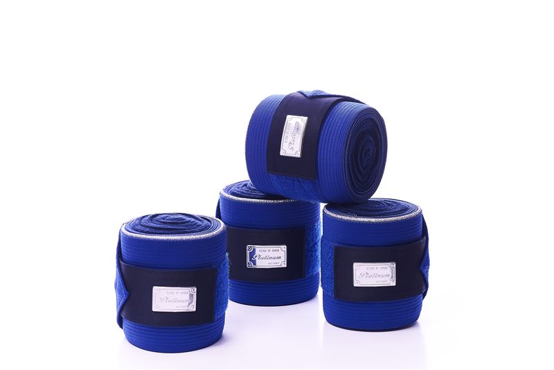 RBH Platinum Fleece / Elastic Bandages - Royal Blue - Divine Equestrian