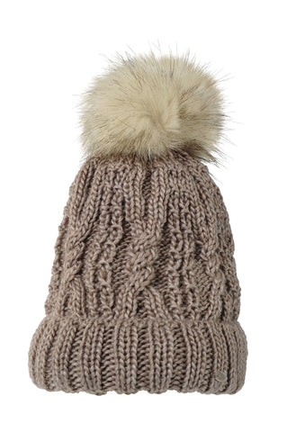 Pikeur Fake Fur Bobble Hat - Taupe