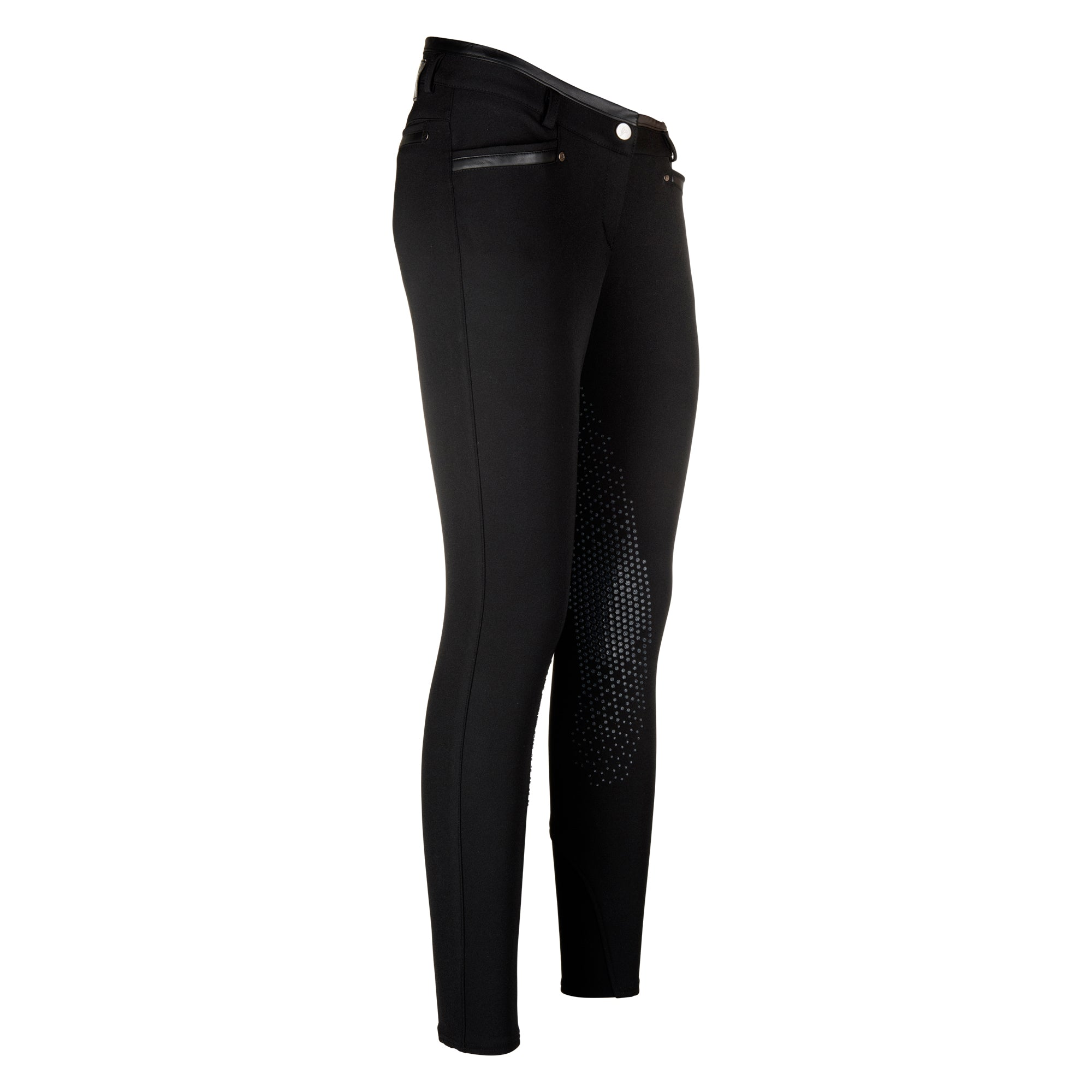 Euro-star AW17 Nina Powergrip Breech - Black - Divine Equestrian