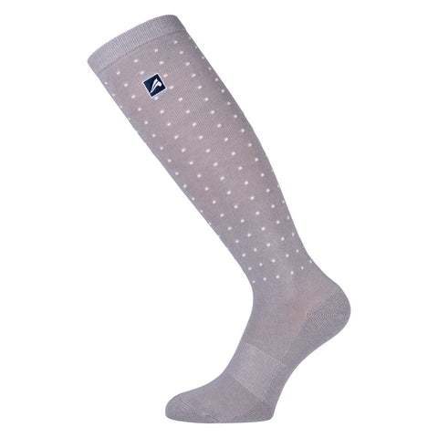 Euro-star AW17 Cotton Socks Dotty With Polygiene - Grey Melange - Divine Equestrian
