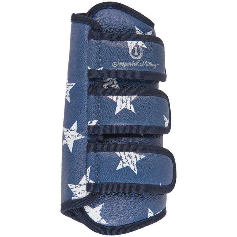 Imperial Riding Love Your Life Pattern - Navy Star Dressage Boots - Divine Equestrian