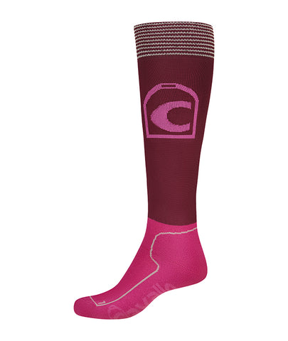 Cavallo Lurex Tenical Socks - Fuschia