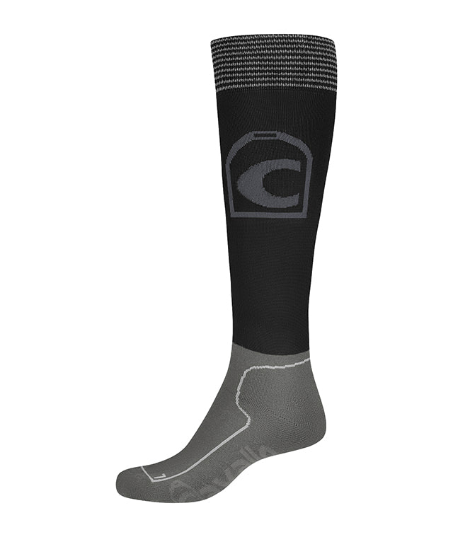 Cavallo Lurex Technical Socks - Black - Divine Equestrian