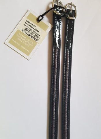 Imperial Riding Glitter Spur Straps - Black With Gun Metal