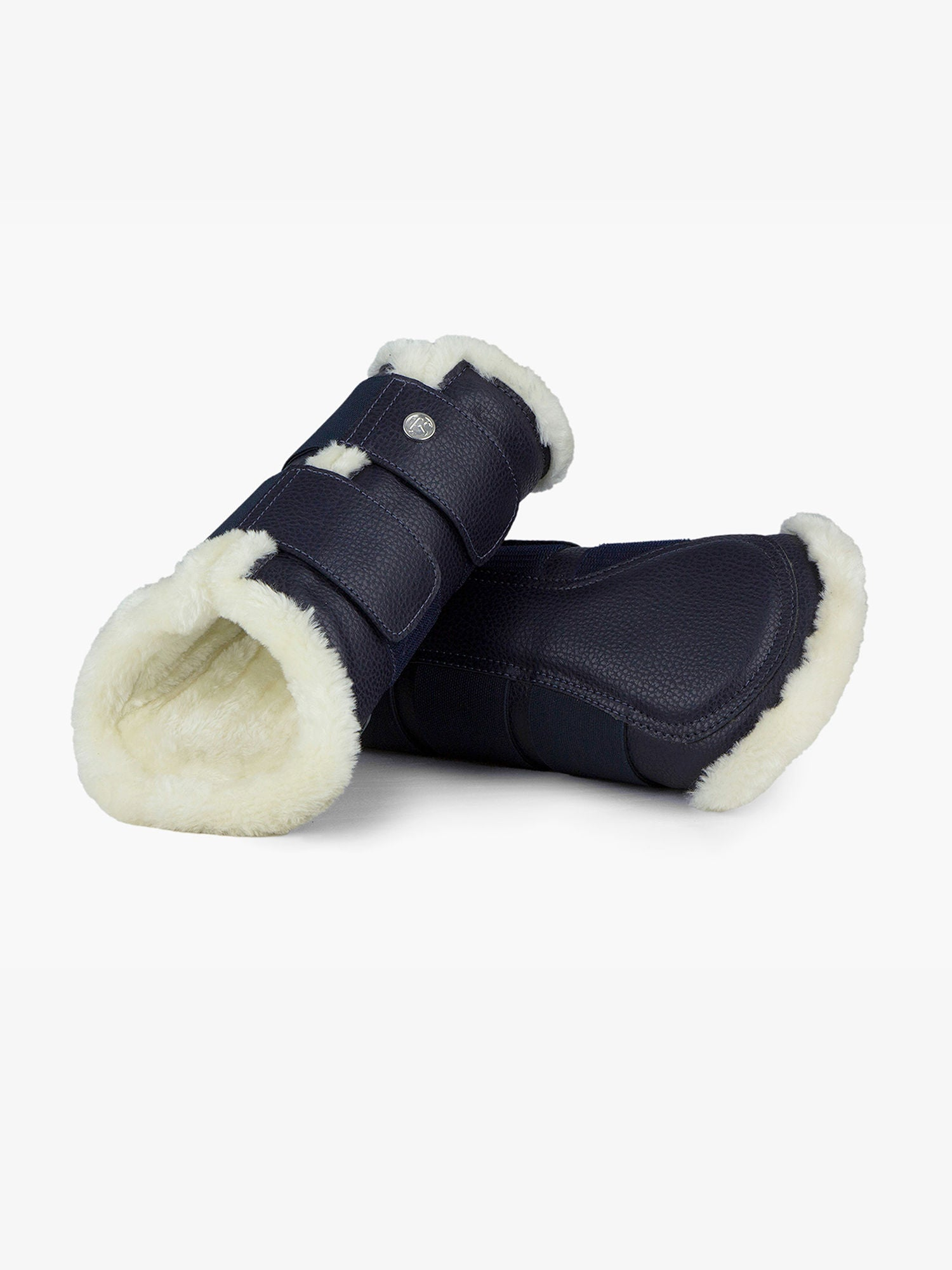 PS of Sweden Monogram Artificial sheepskin Brushing Boots - Deep Sapphire - Divine Equestrian
