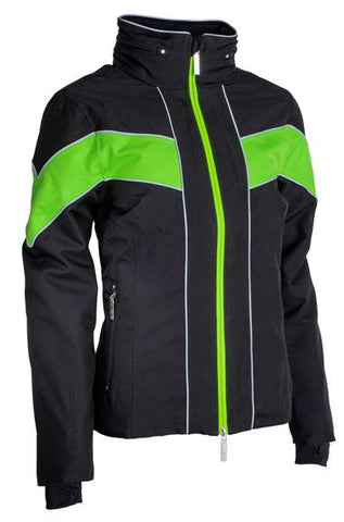 CARL HESTER COLLECTION - GIORGIONE WATERPROOF JACKET - BLACK/ GREEN - Divine Equestrian