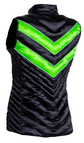 CARL HESTER COLLECTION AZAR QUILTED GILET -BLACK / GREEN - Divine Equestrian