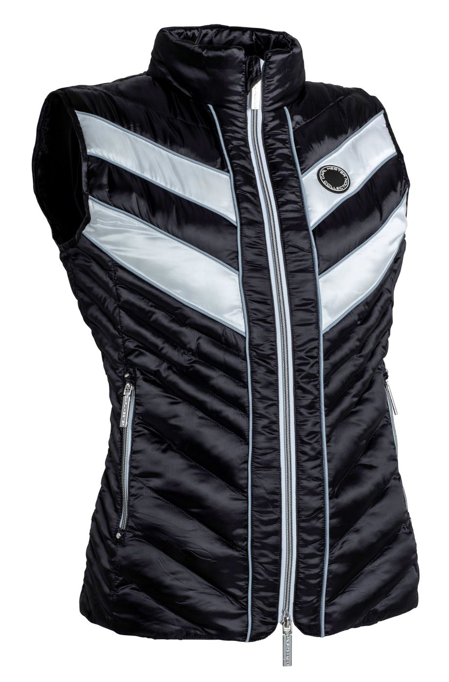 CARL HESTER COLLECTION AZAR QUILTED GILET -BLACK / WHITE - Divine Equestrian