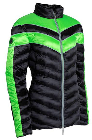 CARL HESTER COLLECTION VINCENZO QUILTED JACKET - BLACK/GREEN - Divine Equestrian